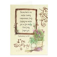 scriptural apology greeting card i m sorry card