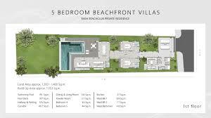 five bedroom floor plan five bedroom beachfront pool villa baba beach club