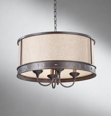 Burlap Chandelier Shades Drum Chandelier With Burlap Shade Thesecretconsul Com