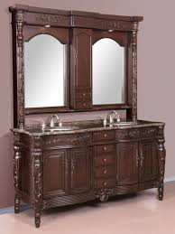 68 inch double sink traditional vanity with hutch