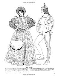 printable coloring pages renaissance renaissance fashions dover fashion coloring book tom tierney
