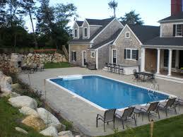 Backyard Pool Landscaping Ideas by Beautiful Rectangular Pool Landscaping Ideas With Tub Gallery