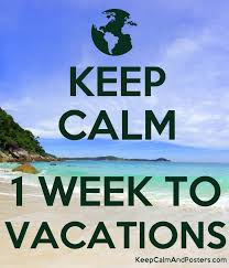 keep calm 1 week to vacations keep calm and posters generator