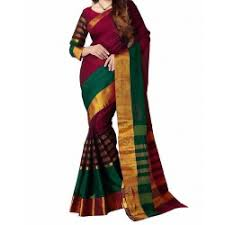 Buy Green Plain Cotton Silk Plain Cotton Silk Sarees Buy Designer Plain Cotton Silk Sarees