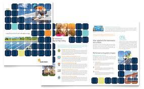 engineering brochure templates free solar energy brochure template design