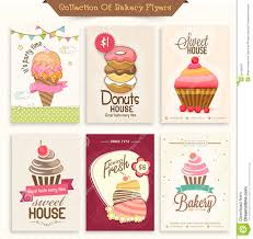 collection of bakery flyers for sweet house stock photo image