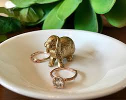 silver rabbit ring holder images Bunny ring holder etsy jpg