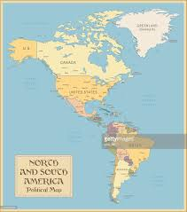 Brazil On South America Map by Vintage Map Of North And South America Vector Art Getty Images