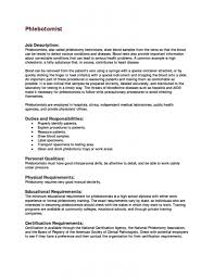 Personal Skills In Resume Examples Creative Ideas Phlebotomist Resume Examples 10 Phlebotomy Cv