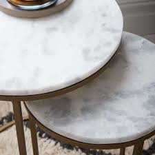 west elm round side table round nesting side tables set marble antique brass west elm au