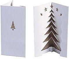 3d christmas tree card trace half of a christmas tree like shown