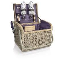 wine and cheese basket picnic time kabrio picnic basket with wine and cheese