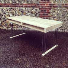 reclaimed timber dining table with steel hairpin legs by gas u0026air