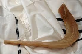 shofar tallit shofar on tallit stock image image of judaism fringes 244005