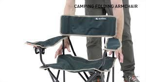 Folding Armchair Quechua Camping Furniture Folding Armchair Youtube