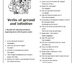 of gerund and infinitive intermediate worksheet