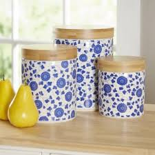 pottery canisters kitchen ceramic kitchen canisters jars you ll wayfair
