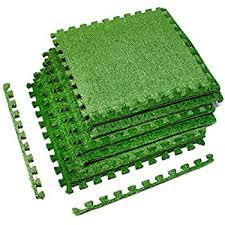 Patio Grass Carpet Amazon Com Sorbus Grass Mat Interlocking Floor Tiles Soft