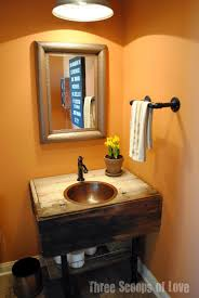 Rustic Industrial Bathroom - three scoops of love powder bath reveal