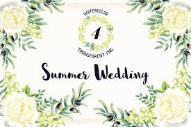 watercolor summer wedding free png flowers free design resources