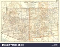 Map Of Arizona And New Mexico by Arizona U0026 New Mexico State Map Showing Counties Britannica 10th