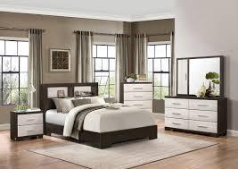Bookcase Bedroom Sets Homelegance Pell Low Profile Storage Bookcase Bedroom Set Two