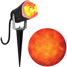 gemmy lightshow projection light fire and ice red red yellow