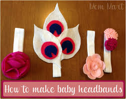 felt headbands mart diy felt flower baby headbands tutorial
