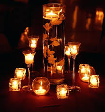 water centerpieces candles in water centerpieces are so versatile when the lights