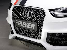 audi rs4 grill rieger kit rs4 look bumper audi a4 s4 b8 5