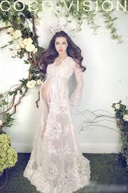 aliexpress com buy queen style beige lace long maternity dress