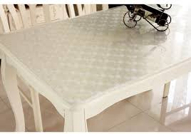 silence cloth table pad customize soft pvc waterproof tablecloth transparent soft glass