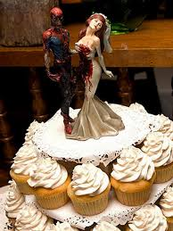 Nerdy Wedding Rings by Attractive Nerdy Wedding Rings 3 Zombie Wedding Cake 1851