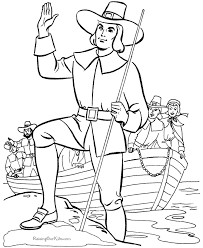 thanksgiving pilgrim coloring pictures 009
