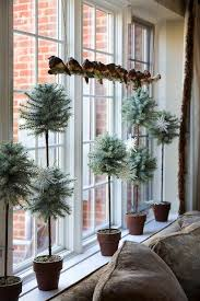 Front Windows Decorating Moss Terrarium Topiaries And The Birds On A