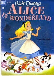 alice wonderland number 331 comic book 1951 rare libro