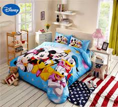 mickey minnie mouse donald duck goofy bedding cotton cartoon