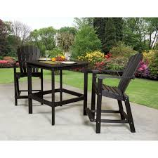High Patio Dining Sets - outdoor wildridge poly furniture classic high table set rocking