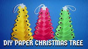 diy paper christmas trees diy christmas craft youtube