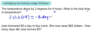 multiplying and dividing integer problems youtube