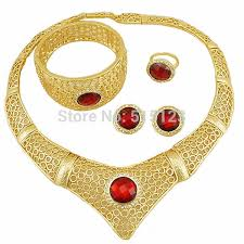 african gold necklace images 2018 wholesale blue stone big fine jewelry 18k gold african gold jpg