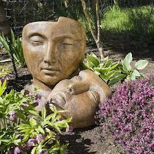 garden statuary ornaments faces birdbaths benches fountains