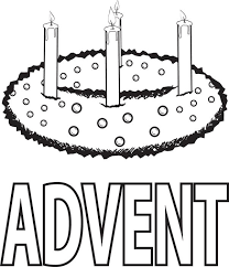 free printable advent wreath winter coloring page for kids