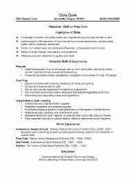 Restaurant Worker Resume Resume Fast Food Restaurant Resume