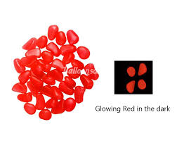 cheap red glow in the dark pebbles garden stones decoration for