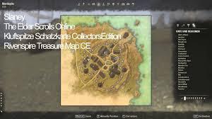 Stormhaven Ce Treasure Map Elder Scrolls Online Kluftspitze Schatzkarte Collectors Edition
