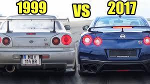 nissan gtr skyline 1999 nissan skyline gtr r34 vs nissan gtr r35 2017 accelerations
