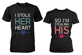 amazon com his and her matching t shirts for couples i stole