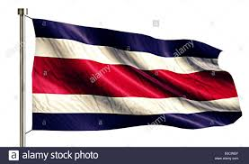 Costa Rico Flag Costa Rica National Flag Isolated 3d White Background Stock Photo