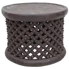 white metal drum side table softline drum stool side table s light
